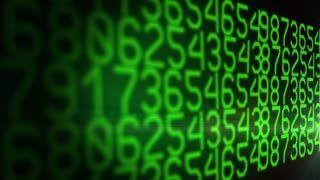 Digital Green Numbers