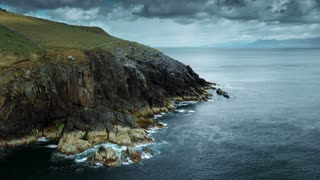 Dingle Ireland Cliffs Passing Aerial
