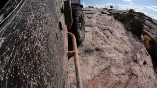 Dirty Jeep Cruising Along POV
