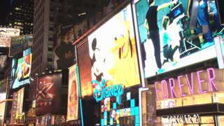 Disney Video Screen Advertisement in Times Square