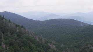 Distant Mountains Covered In Mist, Blue Ridge Mountains