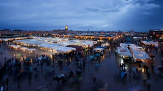 Djemaa el-Fna night market, Marrakech (Marrakesh), Morocco, North Africa, Africa
