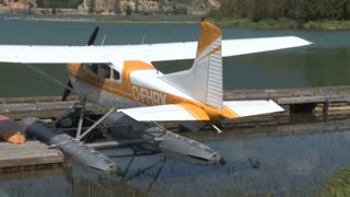 Docked Orange Seaplane