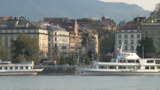 Docked Yacht in Lake Geneva 2