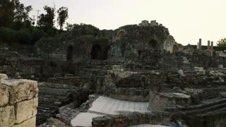 Dolly Shot Of Ancient Ruins