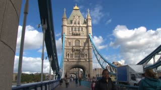 Double Decker Buses On Tower Bridge