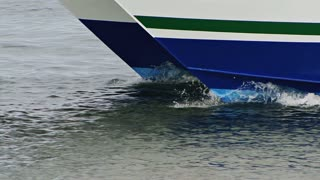 Double Hull Moving Through Water