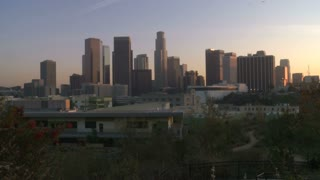 Downtown City Sunset Timelapse