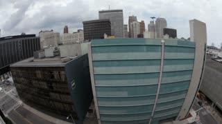 Downtown Detroit Fisheye Lens