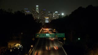 Downtown LA From Highway Timelapse