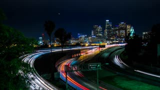 Downtown Los Angeles and 101 Freeway Timelapse