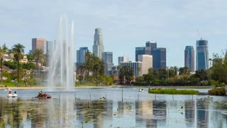 Downtown Los Angeles And Echo Park Day Timelapse Close