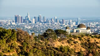 Downtown Los Angeles and Griffith Observatory