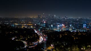 Downtown Los Angeles and Hollywood from Hollywood Bowl Overlook