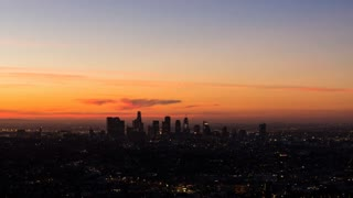 Downtown Los Angeles, California Sunrise Timelapse