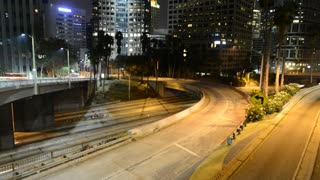 Downtown Los Angeles Traffic Light Trails