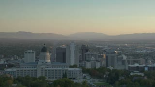 Downtown Salt Lake City At Sunset