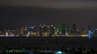Downtown San Diego Skyline at Night Timelapse