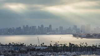 Downtown San Diego Skyline Early in the Morning Timelapse