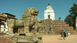 Dragon Statues and Old Temple in Nepal 2