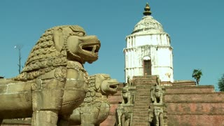 Dragon Statues and Old Temple in Nepal 3