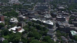 Dramatic Aerial Footage Over Harvard University, Boston, Massachusetts