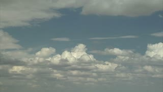 Dramatic Puffy White Cloud Timelapse