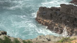 Drenched Rocks in the Pacific