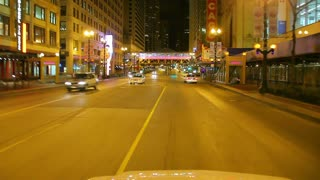 Driver view of city at night 3