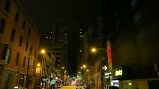 Driver view of city at night 4
