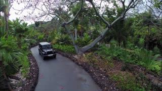 Driving Along Vacation Home Driveway