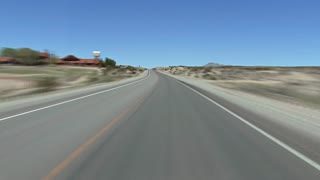 Driving In The Nevada Desert