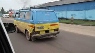 Driving Next To Volkswagen Van Kinshasa Democratic Republic Of Congo