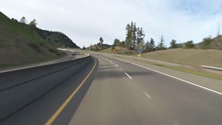 Driving On Hillside Freeway