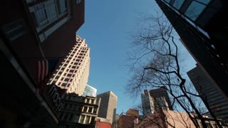 Driving Through Boston Street Looking Up