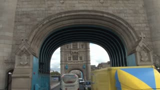 Driving Through London Tower Bridge