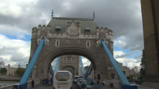 Driving Through Tower Bridge In England