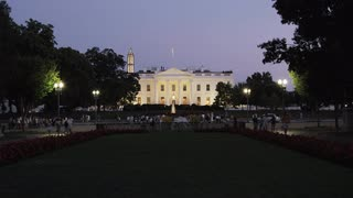 Dusk On White House Lawn