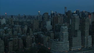 Early Morning Manhattan Cityscape Aerial