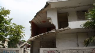 Earthquake Damage In Port-au-prince Haiti