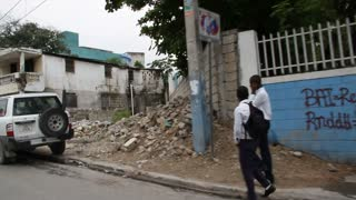 Earthquake Damage Street Port-au-prince Haiti
