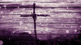 Easter Cross On Wood Texture Motion Worship