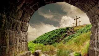 Easter Resurrection And Empty Tomb Crosses