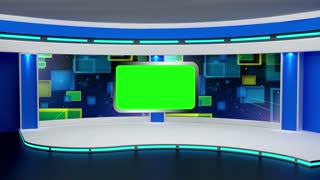 Education TV Studio Set 01 - Virtual Green Screen Background Loop