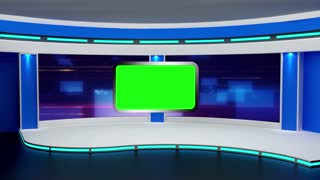 Education TV Studio Set 02 - Virtual Green Screen Background Loop