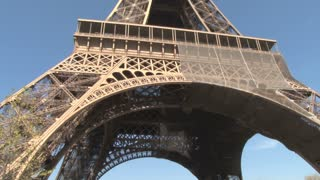 Eiffel Tower Tilt Up Close