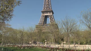Eiffel Tower with Spring Blooms