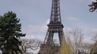 Eiffel Tower with Young Couple in Love 2