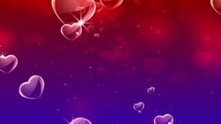 Elegant hearts background