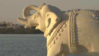 Elephant Statue and Lake View in Udaipur 3